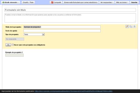 Crear formulario